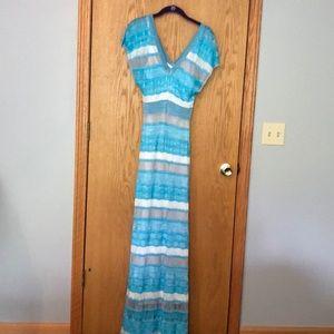 NWOT Bebe knit crochet maxi dress